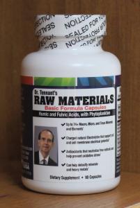 raw materials capsules bottle